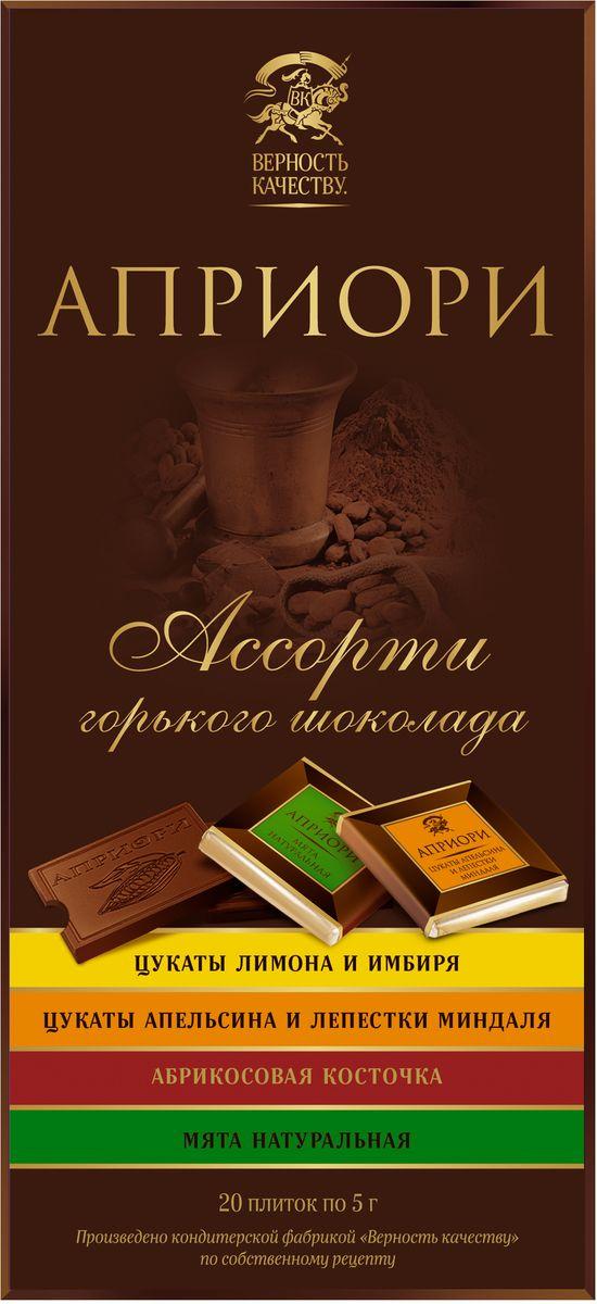 Априори ассорти горького шоколада с цукатами и орехами, 100 г кто быстрее две игрушки с цукатами 5 г