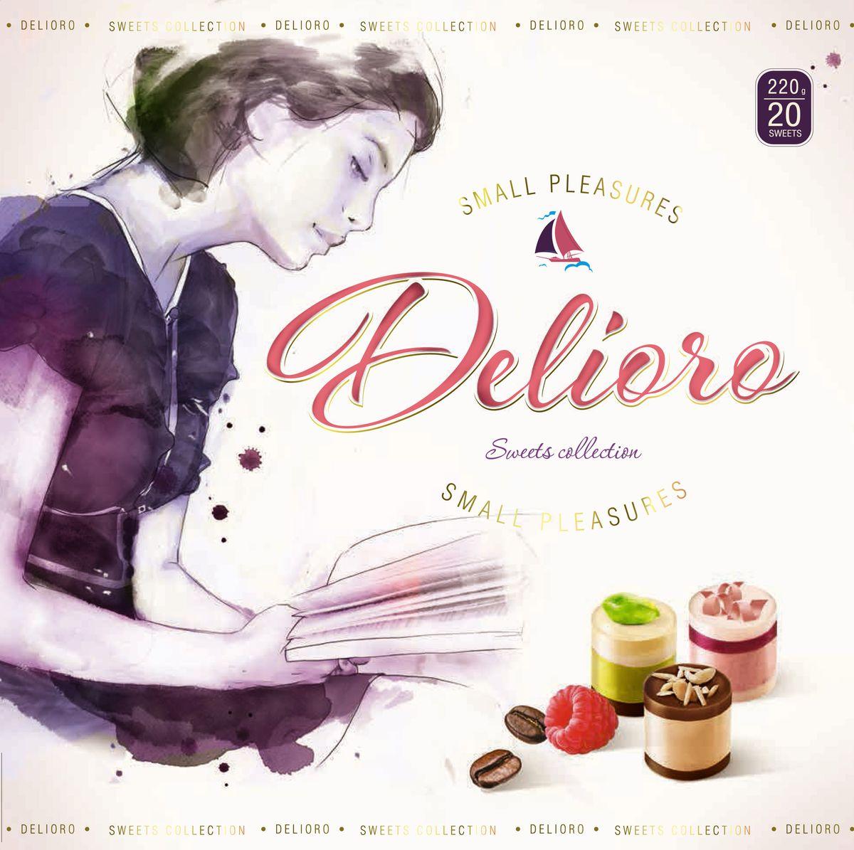 Delioro Коллекция изысканных конфет с ганашем и кремом, 220 г кто быстрее две игрушки с цукатами 5 г
