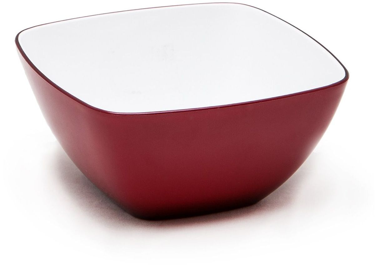 Миска квадратная MoulinVilla, цвет: бургунди, 14 х 14 х 7 смL-14BКвадратная миска Moulinvilla, изготовленная из высококачественного акрила, благодаря оригинальному и привлекательному дизайну выполняет не только практичную, но и декоративную функцию. Белый цвет внутренней поверхности и сочный, интенсивный цвет снаружи отлично контрастируют, привлекая к себе внимание.Миска подойдет для сервировки салатов, фруктов, закусок, десертов, печенья, сладостей и других продуктов.Подходит для мытья в посудомоечной машине.