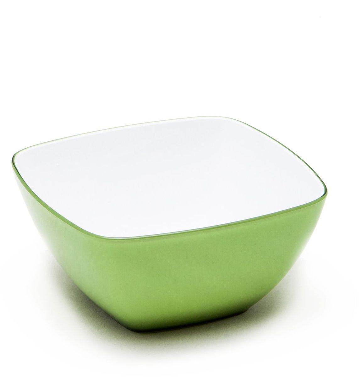 Миска квадратная MoulinVilla, цвет: зеленый, 14 х 14 х 7 смL-14GКвадратная миска Moulinvilla, изготовленная из высококачественного акрила, благодаря оригинальному и привлекательному дизайну выполняет не только практичную, но и декоративную функцию. Белый цвет внутренней поверхности и сочный, интенсивный цвет снаружи отлично контрастируют, привлекая к себе внимание.Миска подойдет для сервировки салатов, фруктов, закусок, десертов, печенья, сладостей и других продуктов.Подходит для мытья в посудомоечной машине.