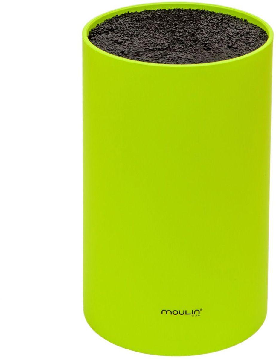 Подставка для ножей MoulinVilla, цвет: зеленыйSTN-1GПодставка для ножей универсальная.Пищевой пластик с наполнителем из гипоаллергенного полипропиленового волокна позволяет максимально бережно сохранять ножи.Наполнитель легко моется и сушится.Подставка подходит как для керамических ножей, так и для обычных металлических ножей.