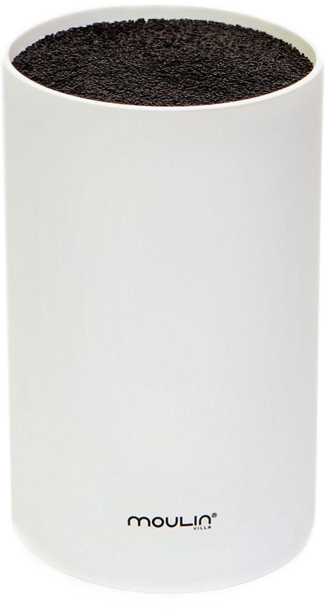 Подставка для ножей MoulinVilla, цвет: белый, 9 х 9 х 16 см