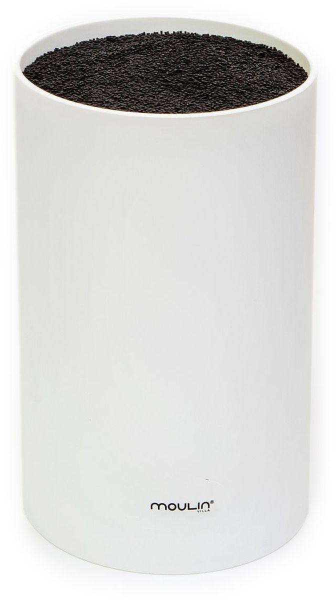 Подставка для ножей MoulinVilla, цвет: белый, 11 х 11 х 18 см подставки для ножей moulinvilla подставка для ножей универсальная пластиковая оранжевая l 18 sm d 11 sm