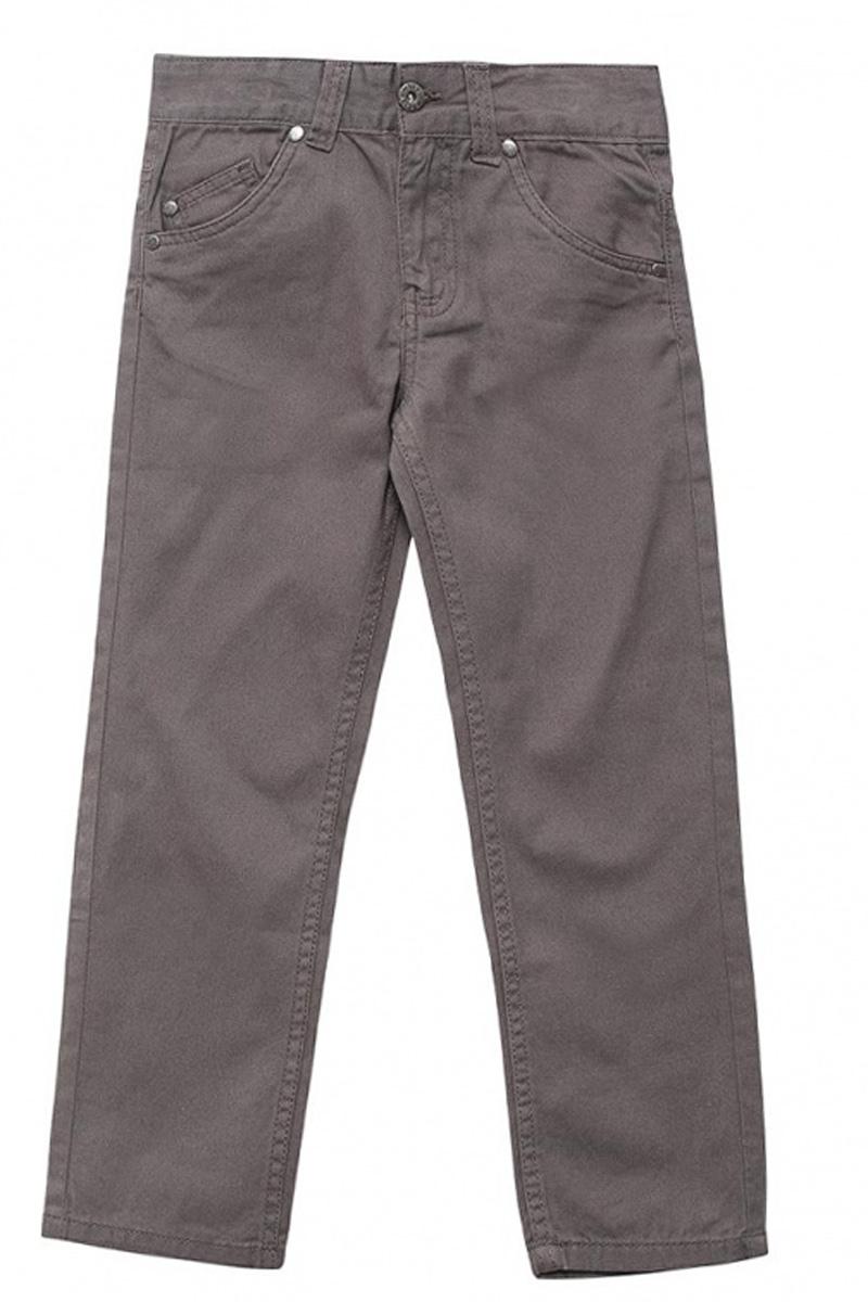 Брюки для мальчика Sela, цвет: серый. P-715/300-7161. Размер 104P-715/300-7161Стильные брюки для мальчика Sela выполнены из натурального хлопка. Брюки прямого кроя и стандартной посадки на талии застегиваются на пуговицу и имеют ширинку на застежке-молнии. На поясе имеются шлевки для ремня. Модель представляет собой классическую пятикарманку: два втачных и один маленький накладной кармашек спереди и два накладных кармана сзади.
