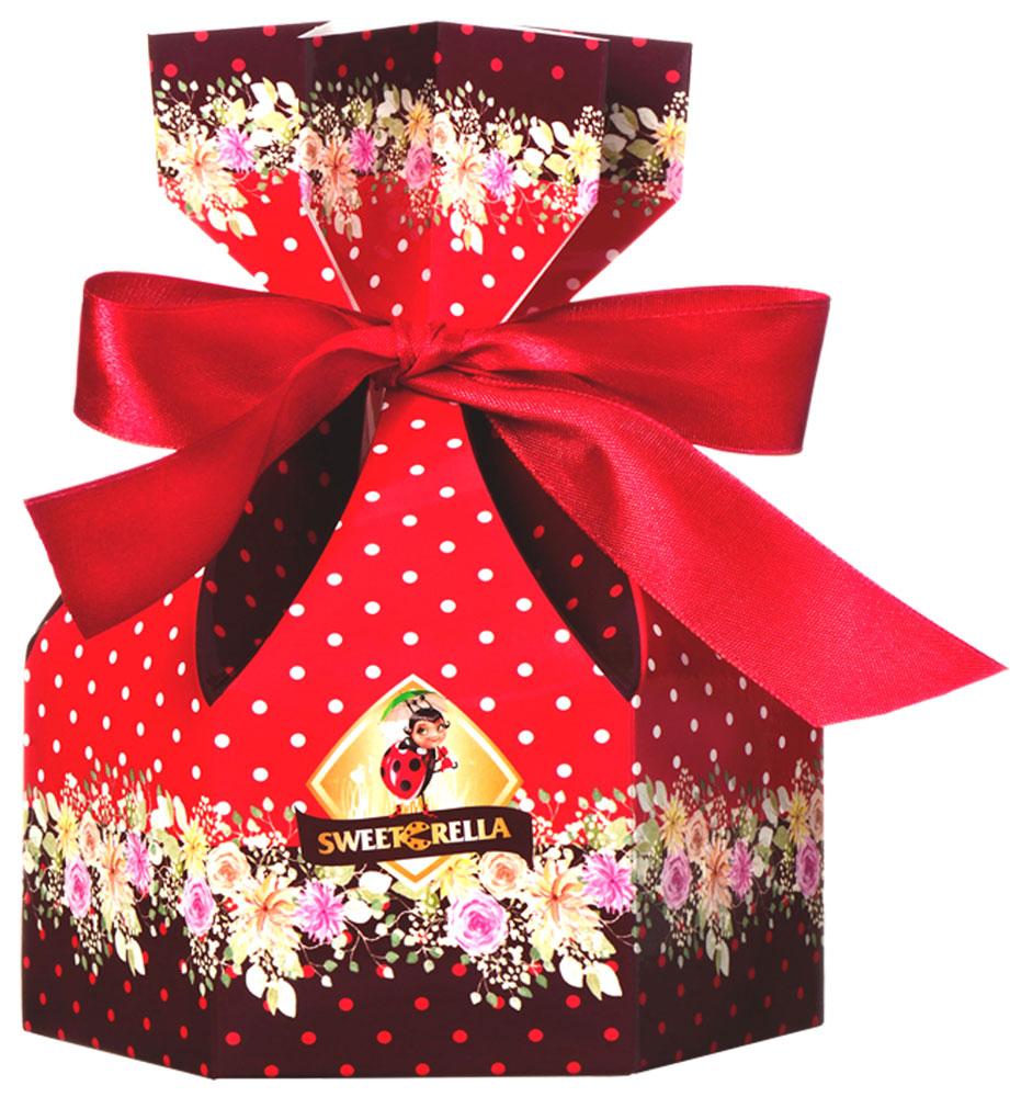 Sweeterella ассорти суфле мешок сладостей, 150 гибд003Подарок, оформленный в форме картонного мешочка, перевязанного ленточкой с весенними цветами, – отличный вариант в качестве презента или дополнение к подарку. В мешочке ассорти суфле, покрытое нежным молочным шоколадом. Ассорти суфле, глазированное шоколадной глазурью со вкусами: - Ваниль; - Банан; - Лесные ягоды; - Апельсин; - Мокко.Уважаемые клиенты! Обращаем ваше внимание, что полный перечень состава продукта представлен на дополнительном изображении.