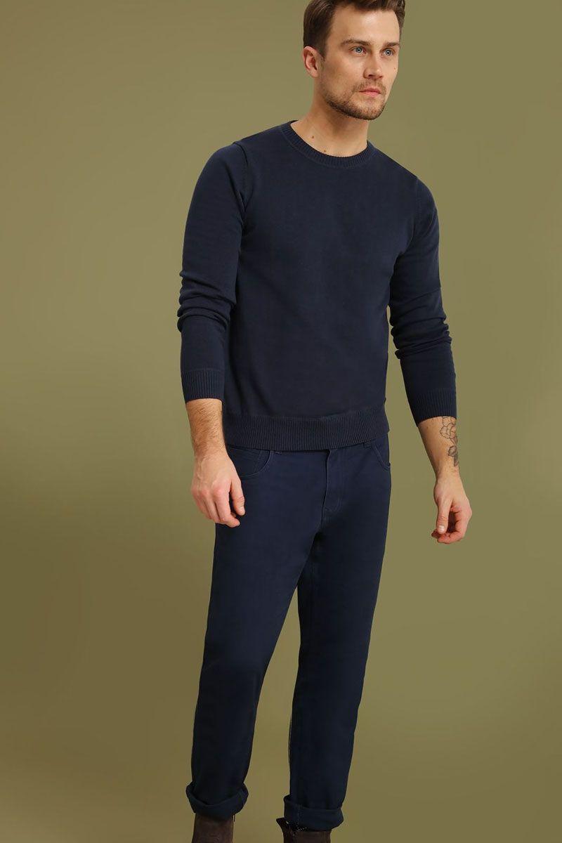 Джемпер мужской Top Secret, цвет: темно-синий. SSW2102GRS. Размер XXL (54)SSW2102GRSДжемпер мужской Top Secret выполнен из хлопка. Модель с круглым вырезом горловины и длинными рукавами.