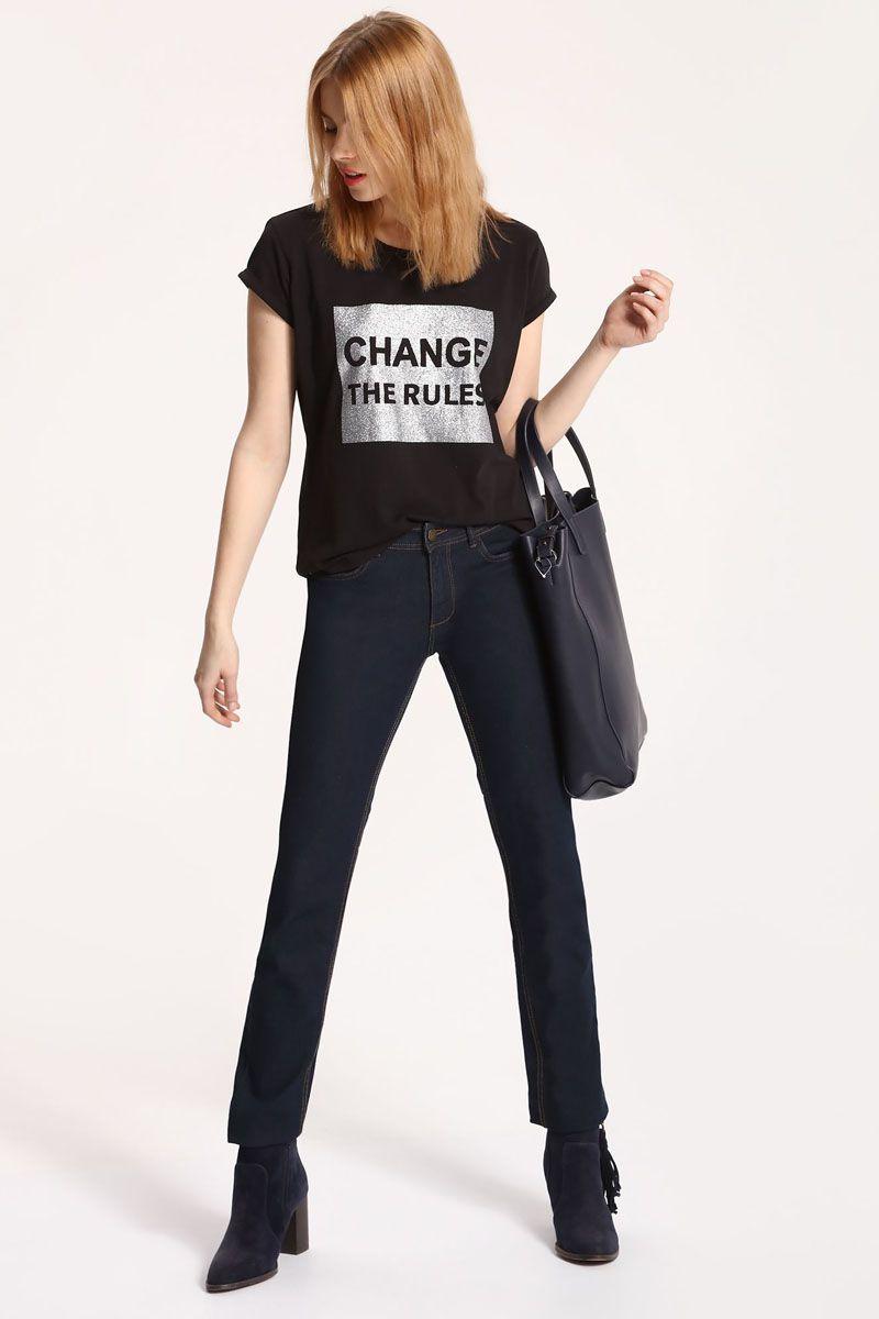 Брюки женские Top Secret, цвет: темно-синий. SSP2448GR. Размер 40 (48)SSP2448GRСтильные женские брюки Top Secret - брюки высочайшего качества на каждый день, которые прекрасно сидят. Модель изготовлена из высококачественного комбинированного материала. Эти модные и в тоже время комфортные брюки послужат отличным дополнением к вашему гардеробу. В них вы всегда будете чувствовать себя уютно и комфортно.