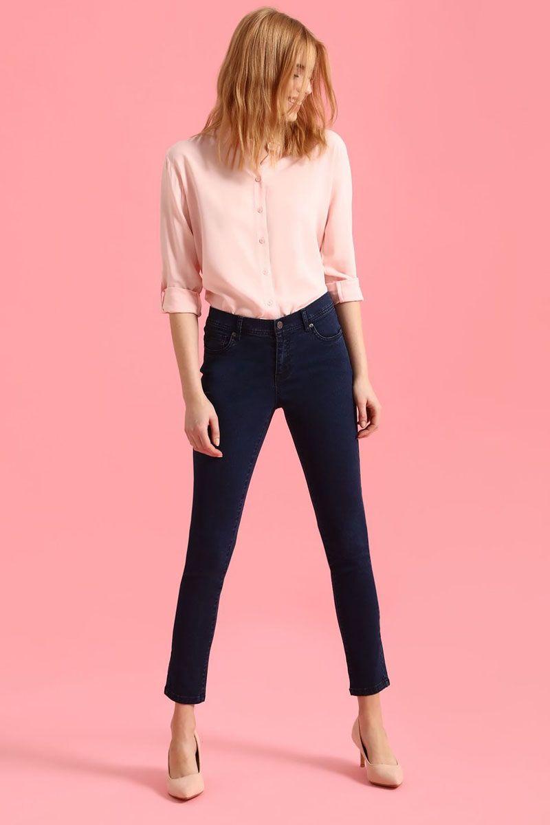 Брюки женские Top Secret, цвет: темно-синий. SSP2446GR. Размер 38 (46)SSP2446GRСтильные женские брюки Top Secret - брюки высочайшего качества на каждый день, которые прекрасно сидят. Модель изготовлена из высококачественного комбинированного материала. Эти модные и в тоже время комфортные брюки послужат отличным дополнением к вашему гардеробу. В них вы всегда будете чувствовать себя уютно и комфортно.