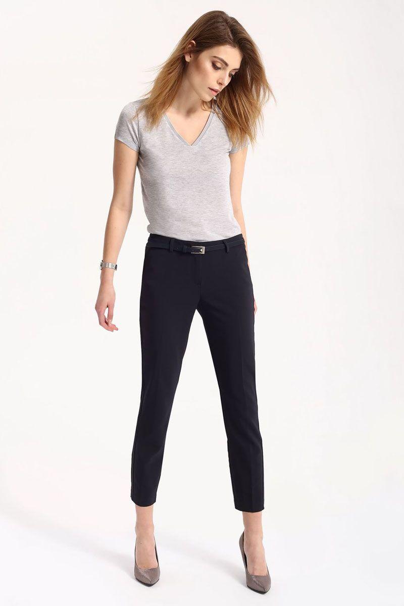 Брюки женские Top Secret, цвет: темно-синий. SSP2430GR. Размер 34 (42)SSP2430GRСтильные женские брюки Top Secret - брюки высочайшего качества на каждый день, которые прекрасно сидят. Модель изготовлена из высококачественного комбинированного материала. Эти модные и в тоже время комфортные брюки послужат отличным дополнением к вашему гардеробу. В них вы всегда будете чувствовать себя уютно и комфортно.