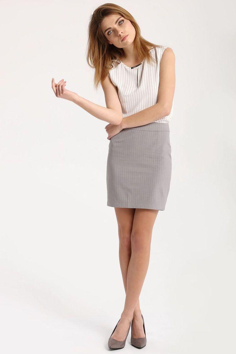 Блузка женская Top Secret, цвет: белый. SBK2215BI. Размер 42 (50)SBK2215BIБлузка женская Top Secret выполнена из полиэстера. Модель с круглым вырезом горловины оформлена интересным принтом.