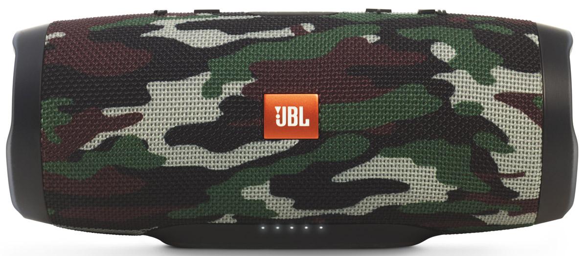 JBL Charge 3, Camouflage портативная колонкаJBLCHARGE3SQUADEUУникальная беспроводная портативная акустическая система JBL Charge 3 гарантирует мощный стерео-звук и источник энергии в одном устройстве. Благодаря водонепроницаемому прорезиненному тканевому корпусу вечеринку с Charge 3 можно устроить в любом месте - у бассейна и даже под дождем. Аккумулятор высокой емкости на 6000 мАч гарантирует бесперебойную работу в течение 15 часов и позволяет заряжать смартфоны и планшеты по USB. Встроенный микрофон с шумо- и эхоподавлением гарантирует идеально чистый звук во время телефонных разговоров по нажатию одной кнопки. Подключайте дополнительные колонки с поддержкой JBL Connect по беспроводному соединению для еще более мощного звука.