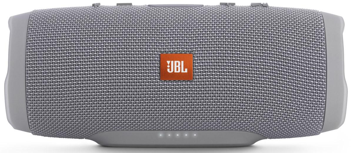 JBL Charge 3, Gray портативная колонкаJBLCHARGE3GRAYEUУникальная беспроводная портативная акустическая система JBL Charge 3 гарантирует мощный стерео-звук и источник энергии в одном устройстве. Благодаря водонепроницаемому прорезиненному тканевому корпусу вечеринку с Charge 3 можно устроить в любом месте - у бассейна и даже под дождем. Аккумулятор высокой емкости на 6000 мАч гарантирует бесперебойную работу в течение 15 часов и позволяет заряжать смартфоны и планшеты по USB. Встроенный микрофон с шумо- и эхоподавлением гарантирует идеально чистый звук во время телефонных разговоров по нажатию одной кнопки. Подключайте дополнительные колонки с поддержкой JBL Connect по беспроводному соединению для еще более мощного звука.Как выбрать портативную колонку. Статья OZON Гид