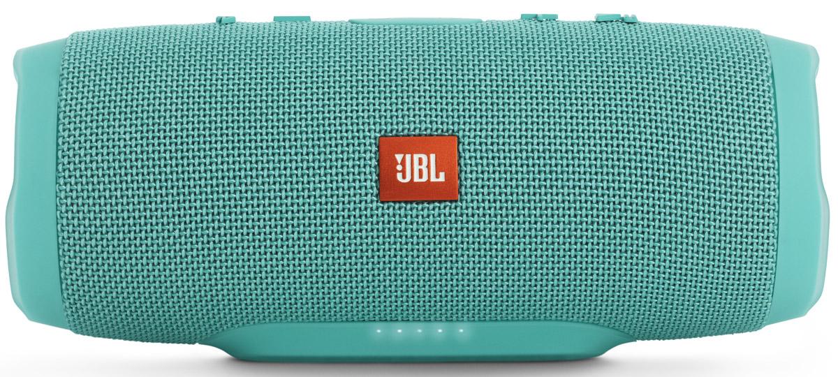 JBL Charge 3, Mint портативная колонкаJBLCHARGE3TEALEUУникальная беспроводная портативная акустическая система JBL Charge 3 гарантирует мощный стерео-звук и источник энергии в одном устройстве. Благодаря водонепроницаемому прорезиненному тканевому корпусу вечеринку с Charge 3 можно устроить в любом месте - у бассейна и даже под дождем. Аккумулятор высокой емкости на 6000 мАч гарантирует бесперебойную работу в течение 15 часов и позволяет заряжать смартфоны и планшеты по USB. Встроенный микрофон с шумо- и эхоподавлением гарантирует идеально чистый звук во время телефонных разговоров по нажатию одной кнопки. Подключайте дополнительные колонки с поддержкой JBL Connect по беспроводному соединению для еще более мощного звука.Как выбрать портативную колонку. Статья OZON Гид