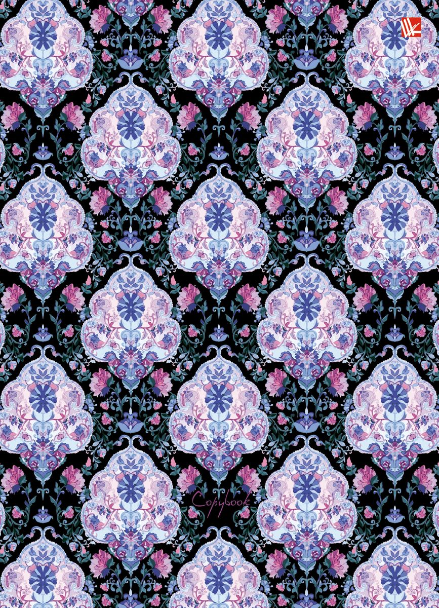 Канц-Эксмо Тетрадь Сиреневый орнамент 120 листов в клетку тетради канц эксмо темно красная а5 200листов тетради с пластиковой обложкой