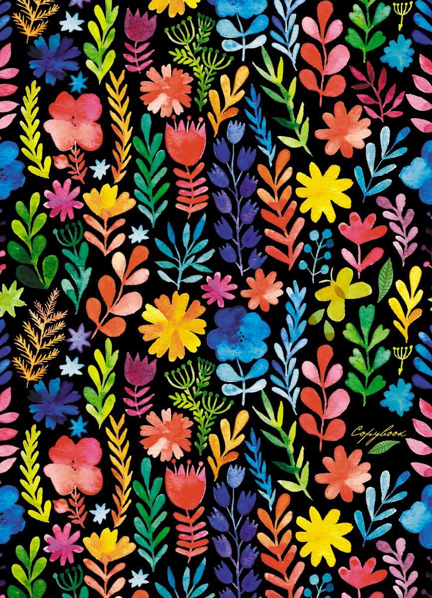 Канц-Эксмо Тетрадь Акварельные цветы 120 листов в клетку тетрадь flowers 120 листов на кольцах n813