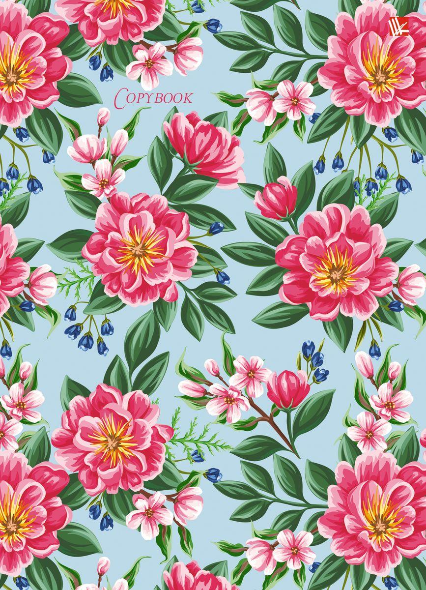Канц-Эксмо Тетрадь Весенние цветы 120 листов в клетку тетрадь flowers 120 листов на кольцах n813