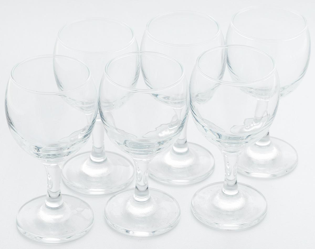 Набор бокалов для белого вина Pasabahce Bistro, 175 мл, 6 шт набор бокалов для бренди коралл 40600 q8105 400 анжела