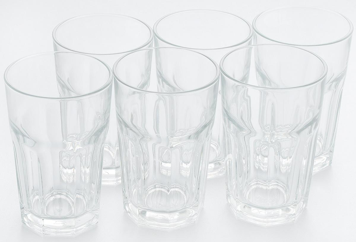 """Набор Pasabahce """"Casablanca"""" состоит из шести стаканов, выполненных из высококачественного стекла. Изделия оснащены многогранной рельефной поверхностью. Такие стаканы подойдут для подачи виски, сока и других напитков со льдом. Стаканы сочетают в себе элегантный дизайн и функциональность.Набор стаканов Pasabahce """"Casablanca"""" идеально подойдет для сервировки стола и станет отличным подарком к любому празднику."""