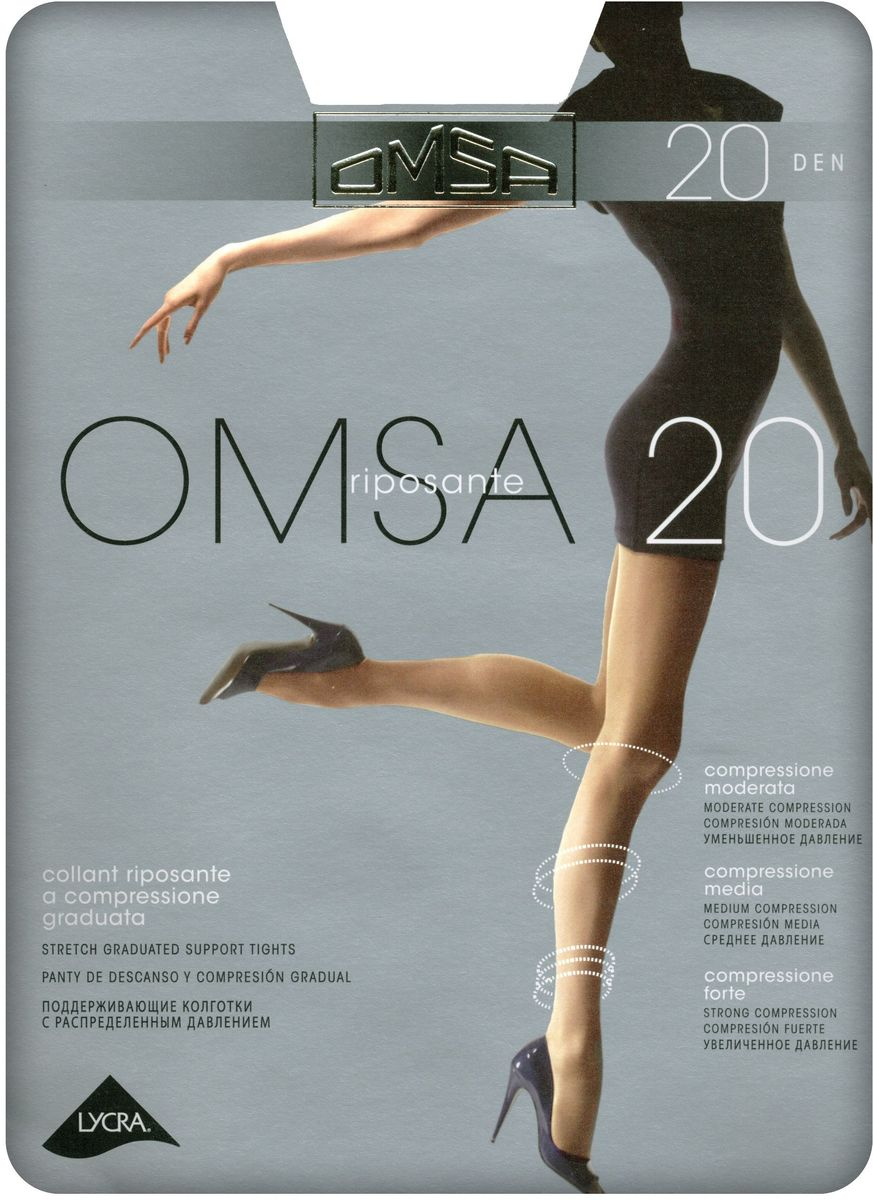 Колготки женские Omsa 20, цвет: Daino (загар). SNL-392290. Размер 5 колготки omsa superlativa размер 3 плотность 20 den nero
