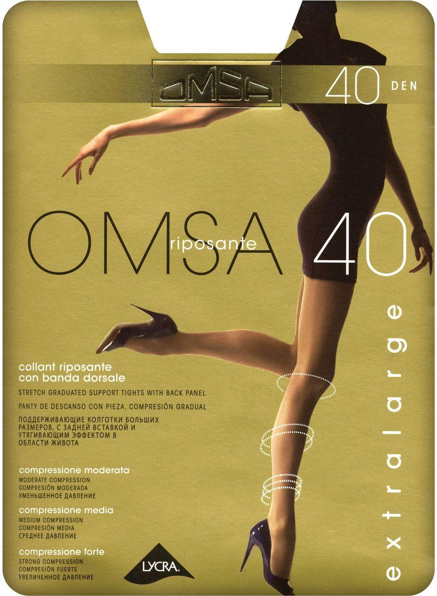 Колготки женские Omsa 40, цвет: Daino (загар). SNL-392334. Размер 5Riposante 40Поддерживающие колготки Omsa больших размеров, с задней вставкой и утягивающим эффектом в области живота.
