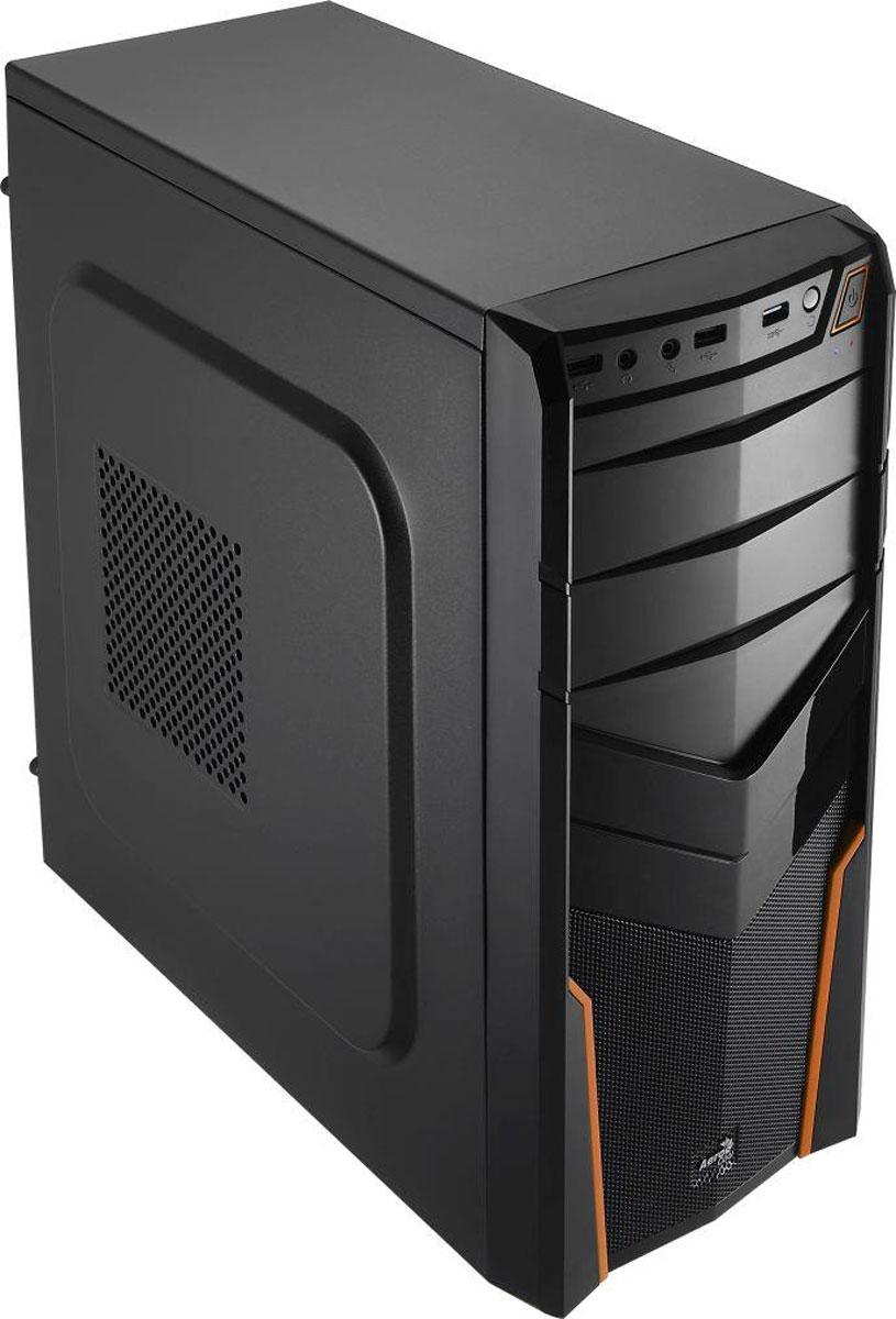 Aerocool V2X, Orange компьютерный корпус4713105952674Корпус Aerocool V2X изготовлен из панелей толщиной 0,5 мм и полностью окрашен изнутри в чёрный цвет. Он выполнен в форм-факторе MidTower и подойдет для геймеров и энтузиастов.На передней панели имеются 2 внешних отсека для 5,25-дюймового оптического привода или панели управления вентиляторами. Внутри корпуса располагаются 2 отсека для 3,5-дюймовых и 1 для 2,5-дюймового накопителей. Поддерживаются системы охлаждения процессора высотой до 150 мм. В Aerocool V2X можно установить видеокарты длиной до 320 мм.