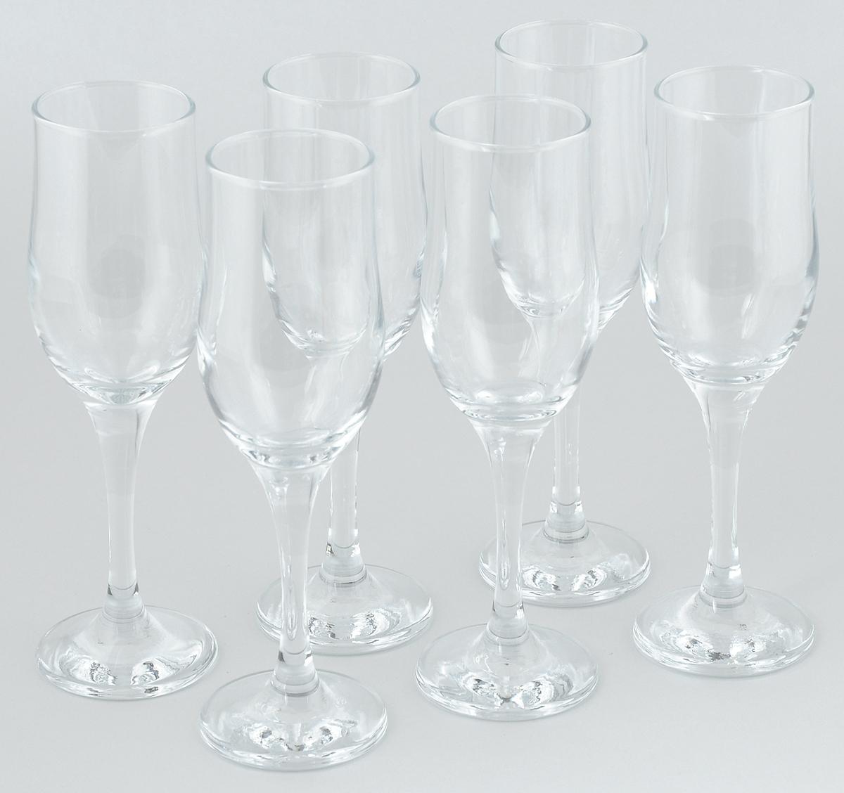 Набор фужеров для шампанского Pasabahce Tulipe, 200 мл, 6 шт imperial plus набор фужеров 6шт вино 315мл 4 64 pasabahce 4 1063139