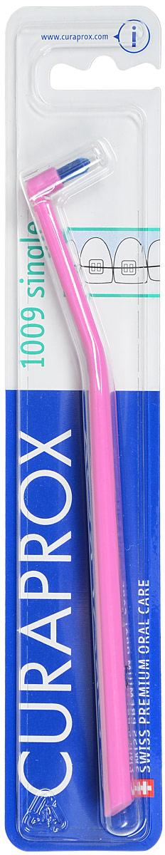 Curaprox Монопучковая щетка Single & Sulcular, цвет: розовый, 9 ммCS1009_розовый