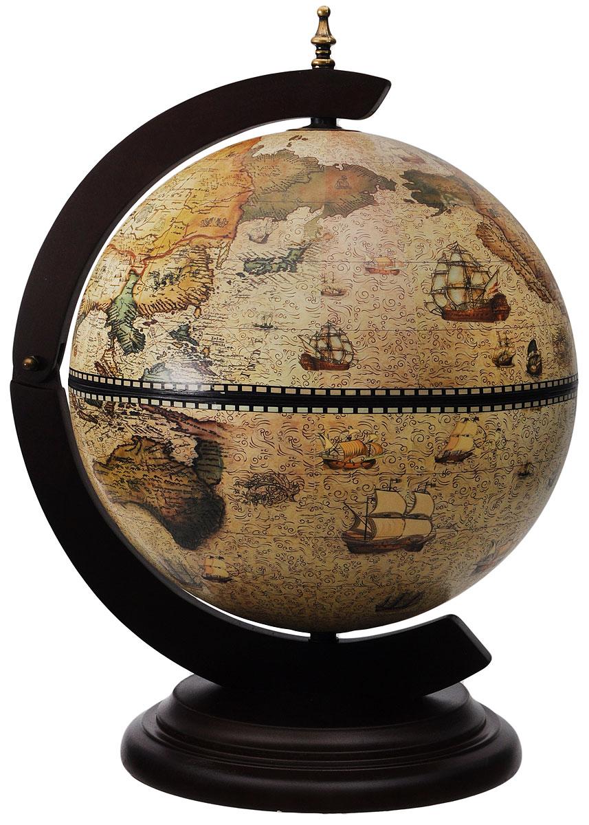 Глобус-бар настольный В поисках приключений, диаметр 33 см
