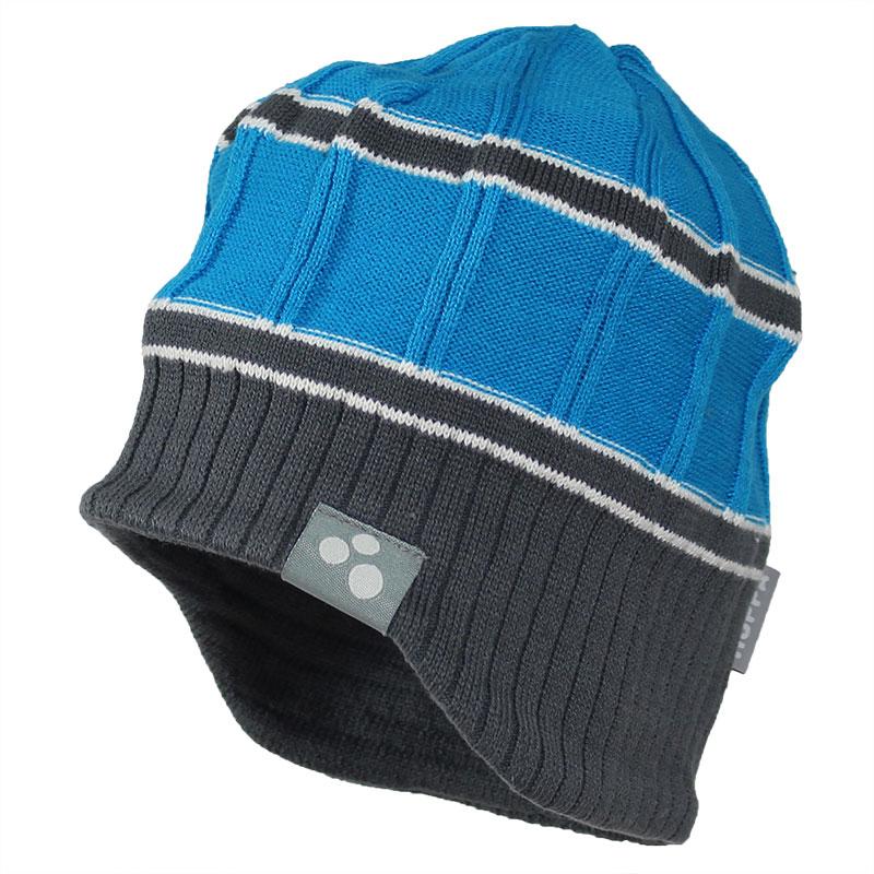 Шапка для мальчика Huppa Jarrod, цвет: голубой, серый. 80060000-70046. Размер M (47/49)