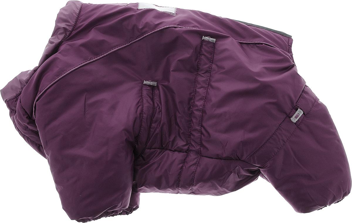 """Комбинезон для собак Dogmoda """"Doggs"""", зимний, для девочки, цвет: фиолетовый. Размер M"""
