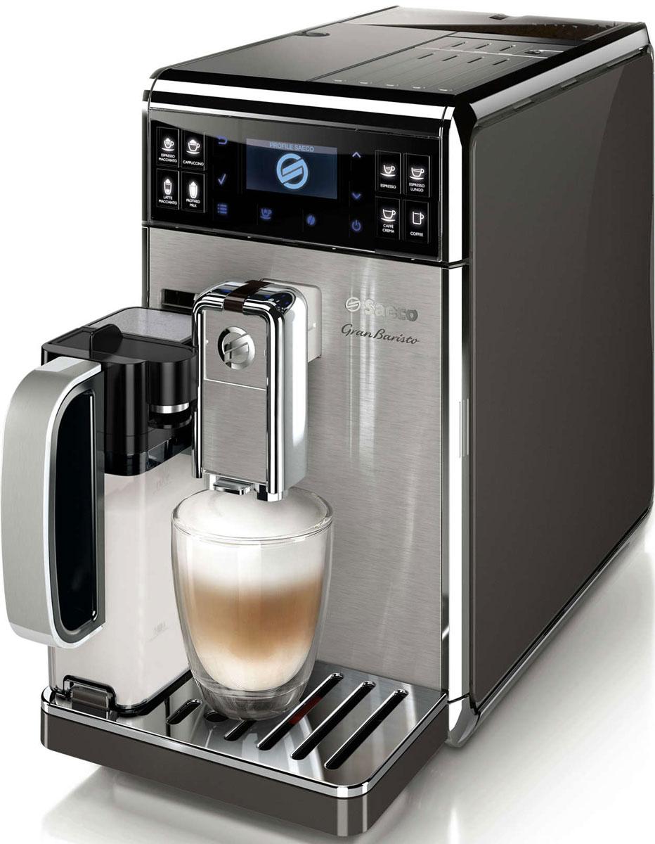 Philips Saeco GranBaristo HD8975/01, Silver Black автоматическая кофемашина кофемашина jura a9 aluminium 15118 1450вт 15бар автокапуч