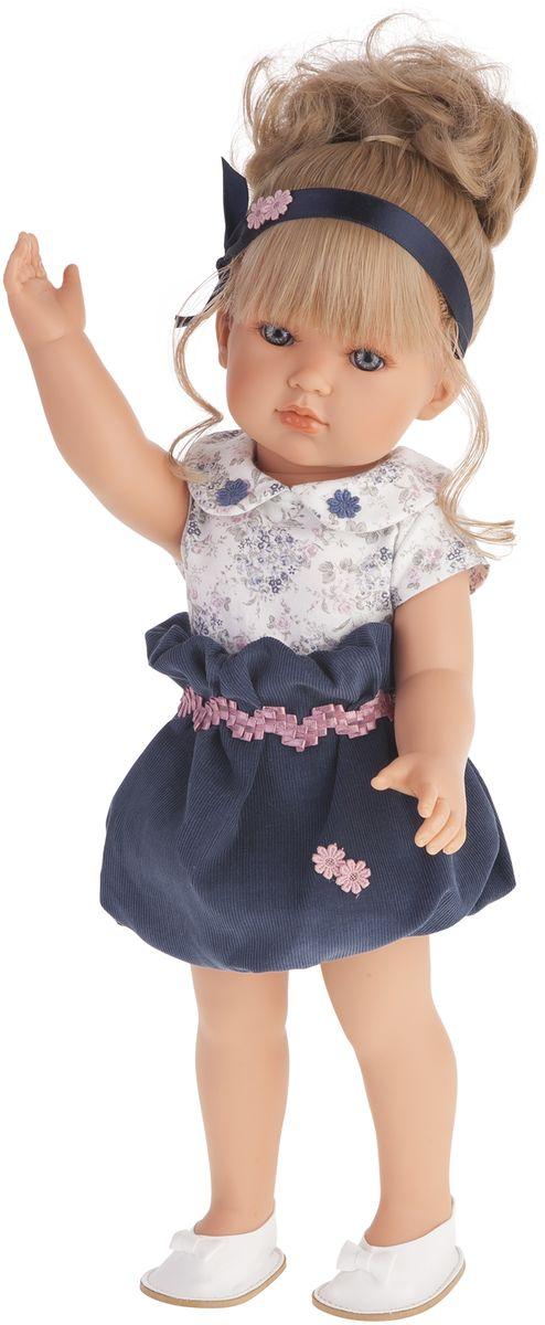 Juan Antonio Кукла Белла в синем платье 45 см куклы antonio juan кукла рамон в синем озвученная 40см