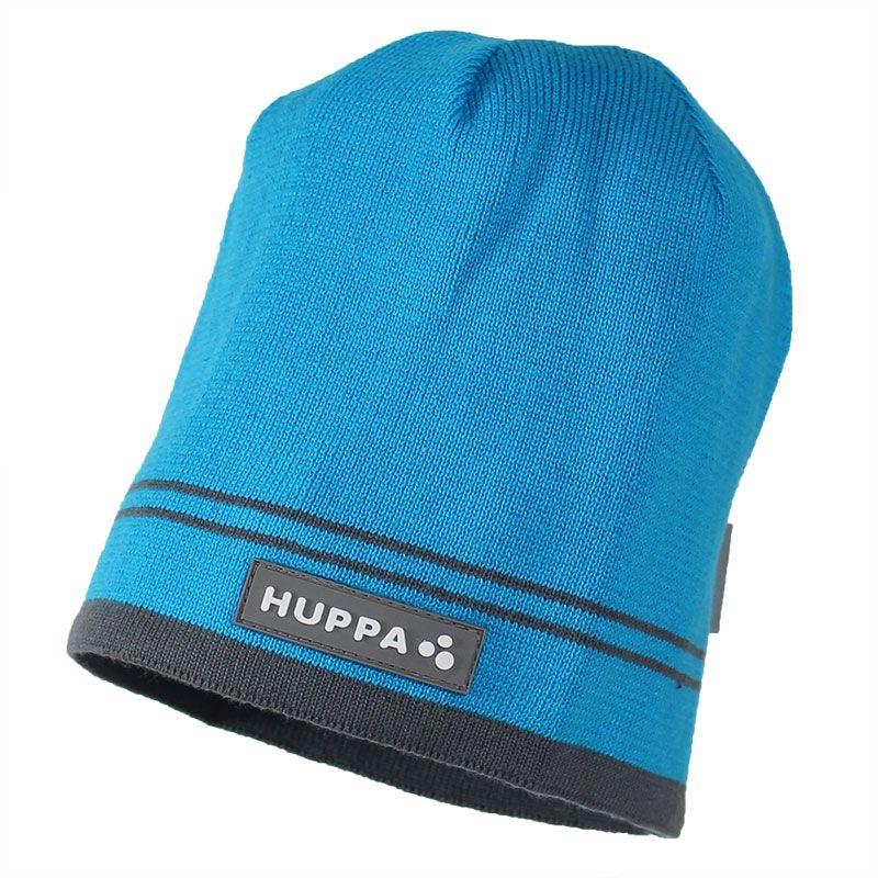 Шапка для мальчика Huppa Tom, цвет: голубой. 80120000-70046. Размер XL (57/59)80120000-70046Теплая вязаная шапочка Huppa Tom согреет вашего ребенка в прохладную погоду. Шапочка изготовлена из натурального хлопка и дополнена контрастными полосами.