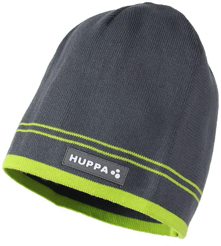 Шапка для мальчика Huppa Tom, цвет: серый. 80120000-70048. Размер S (47/49)80120000-70048Теплая вязаная шапочка Huppa Tom согреет вашего ребенка в прохладную погоду. Шапочка изготовлена из натурального хлопка и дополнена контрастными полосами.