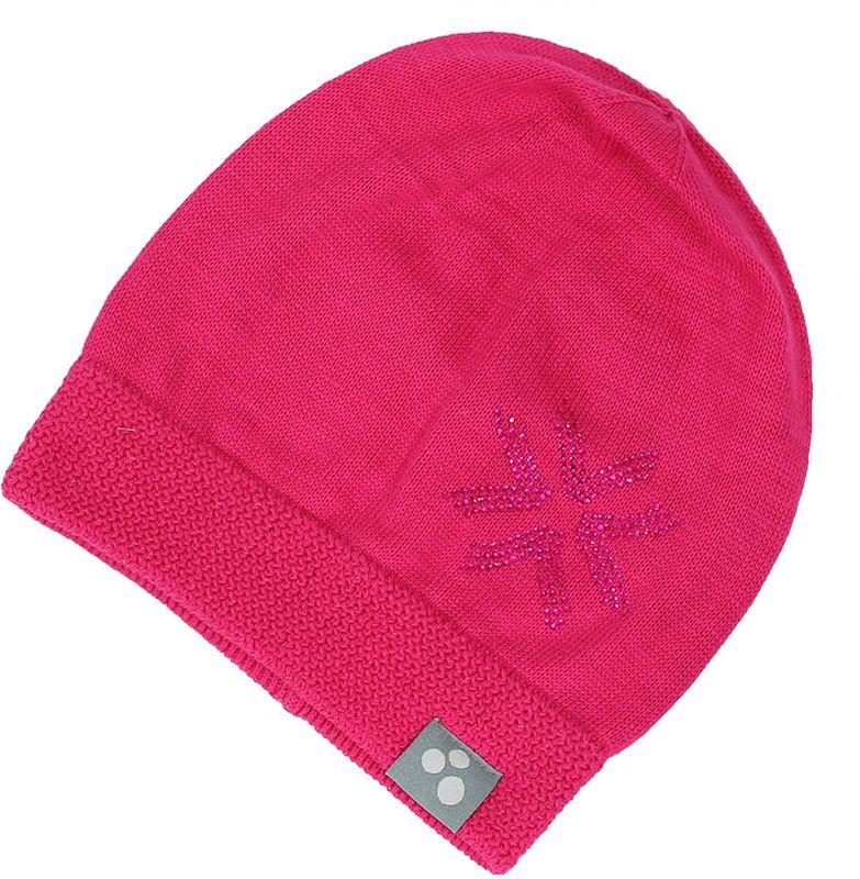 Шапка для девочки Huppa Erika, цвет: фуксия. 80370000-70063. Размер M (51/53)