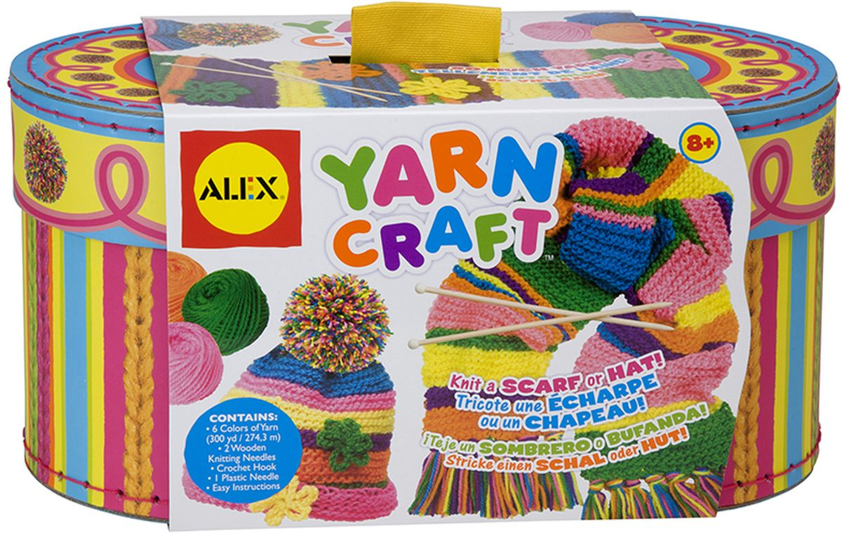 Alex Набор для вязания Учимся вязать шапочку и шарфик, Alex Toys