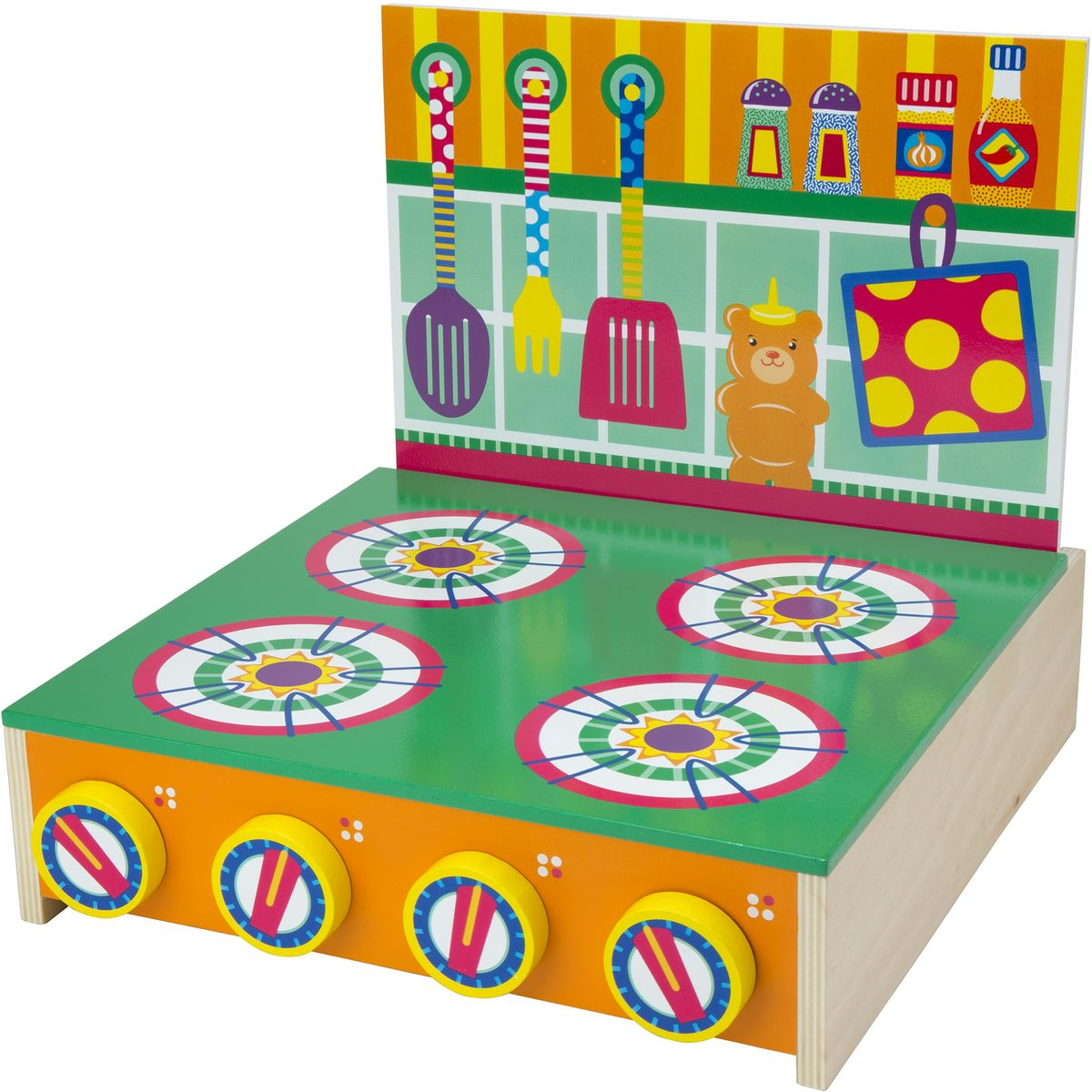 игровой набор alex кухонная плита деревянная от 3 лет 704 Alex Игровой набор Кухонная плита