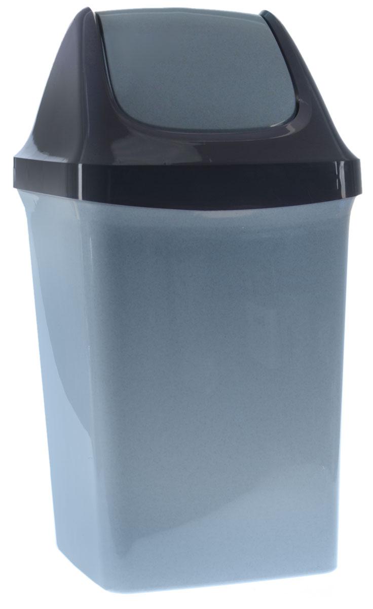 Контейнер для мусора Idea Свинг, цвет: голубой, синий, 50 лМ 2464_серо-голубой, темно-синийКонтейнер для мусора Idea Свинг, изготовленный из прочного полипропилена, снабжен удобной съемной крышкой с подвижной перегородкой. Благодаря лаконичному дизайну такой контейнер идеально впишется в интерьер и дома, и офиса. Размер контейнера: 40 х 33 х 74 см.Объем: 50 л.