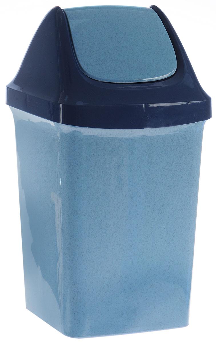 Контейнер для мусора Idea Свинг, цвет: синий, голубой, 9 л контейнер для хранения idea океаник цвет голубой 20 л