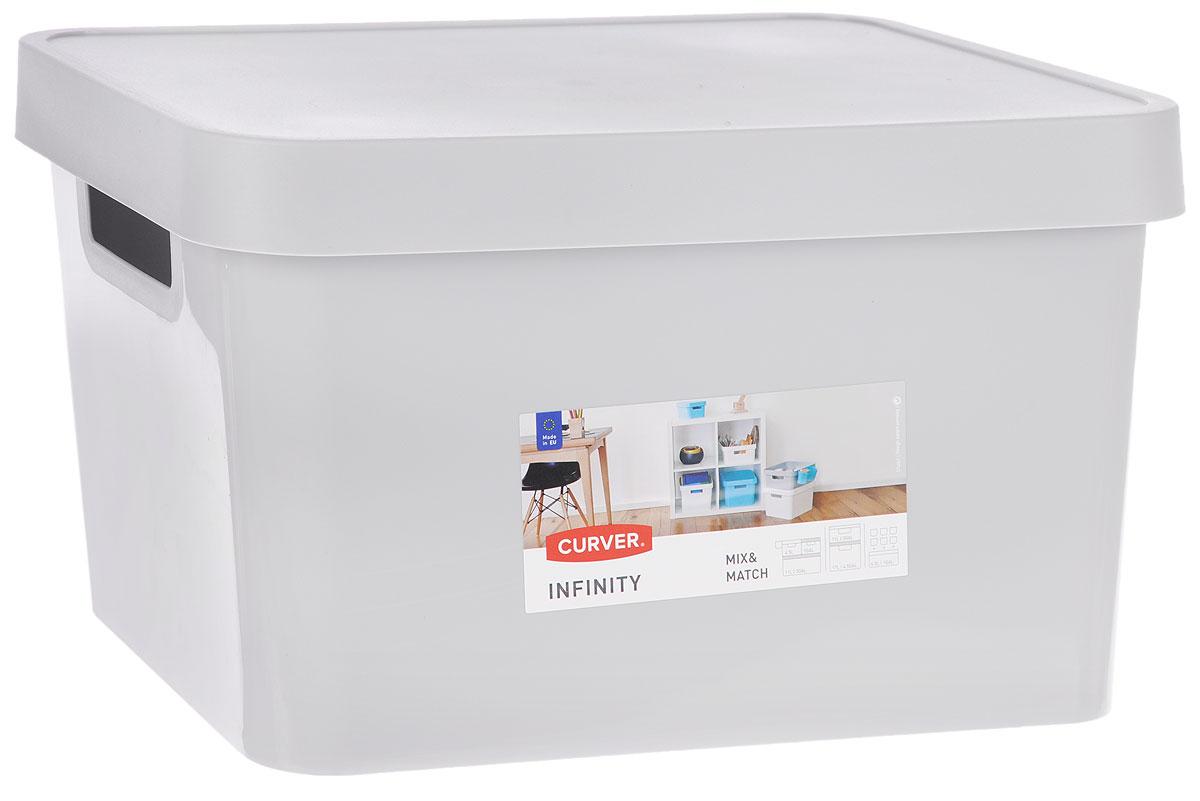 Коробка для хранения Curver Infinity, с крышкой, цвет: серый, 17 л. 04743-099-0104743-099-01Коробка для хранения Curver Infinity выполнен из высококачественного пластика. Изделие оснащено крышкой и двумя эргономичными ручками для переноски. Контейнер Curver очень вместителен и поможет вам хранить все необходимые вещи в одном месте.Объем коробки: 17 л.Размер коробки (с учетом крышки): 36 х 27 х 21,5 см.