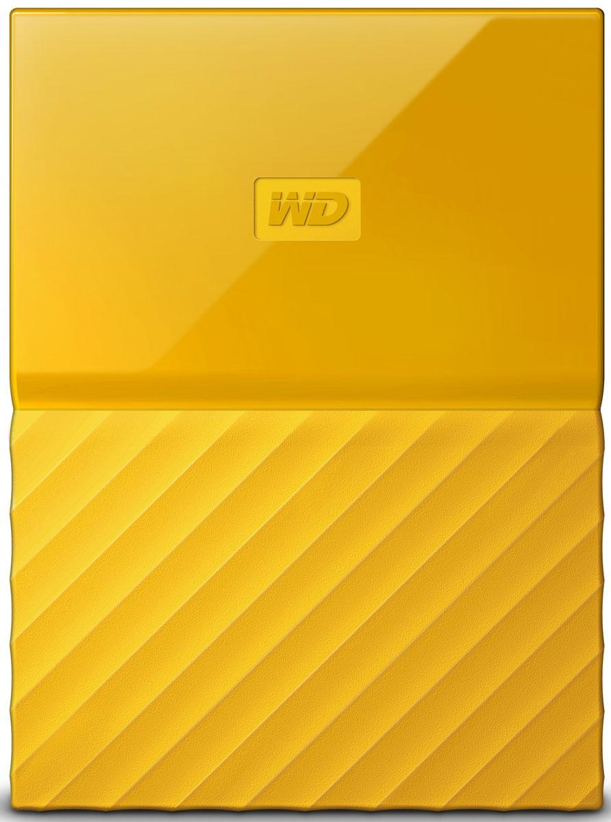WD My Passport 1TB, Yellow внешний жесткий диск (WDBBEX0010BYL-EEUE) - Носители информации