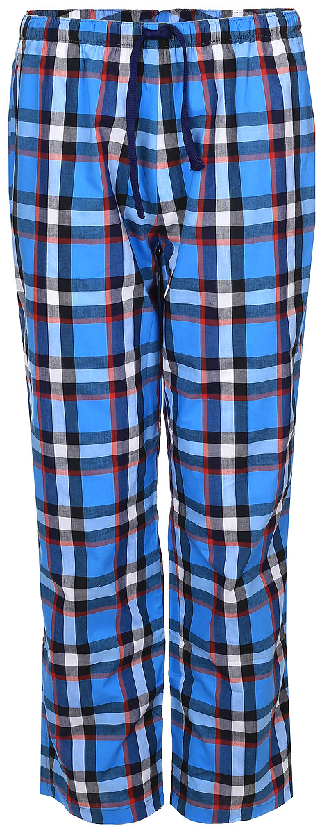 Брюки для дома мужские Peche Monnaie Viking, цвет: голубой, белый, красный. 002. Размер XL (50) брюки для дома мужские diesel цвет синий 00sj3i 0damk 05 размер xl 50