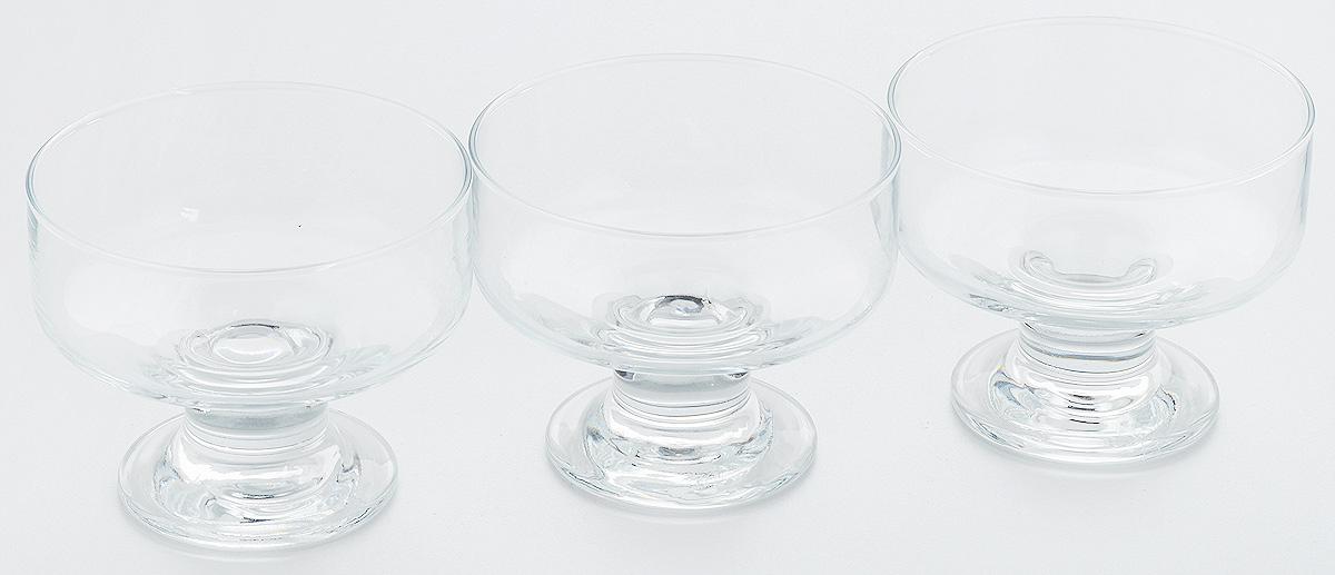 Набор креманок Pasabahce Ice Ville, 250 мл, 3 шт41016/Набор Pasabahce Ice Ville состоит из трех креманок, выполненных из прочного натрий-кальций-силикатного стекла. Креманки прекрасно подойдут для подачи десертов и мороженого. Такой набор украсит праздничный стол и пригодится на любой кухне.Высота креманки: 8,1 см.Объем креманки: 250 мл.
