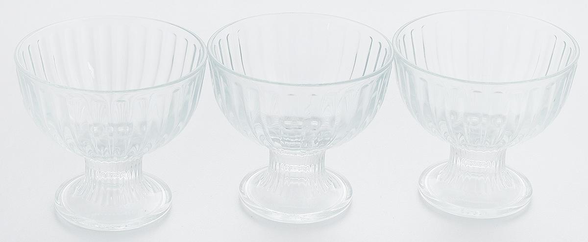Набор креманок Pasabahce Ice Ville, 250 мл, 3 шт. 51018B/51018B/Набор Pasabahce Ice Ville состоит из трех креманок, выполненных из прочного натрий-кальций-силикатного стекла. Креманки прекрасно подойдут для подачи десертов и мороженого. Такой набор украсит праздничный стол и пригодится на любой кухне.Высота креманки: 10 см.Объем креманки: 250 мл.