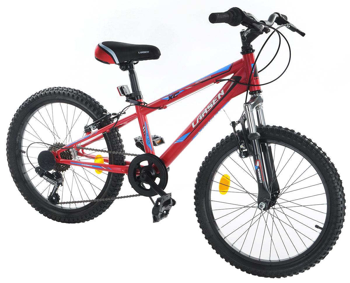 Велосипед Larsen  Bomber 20 , цвет: красный, голубой -  Детские велосипеды