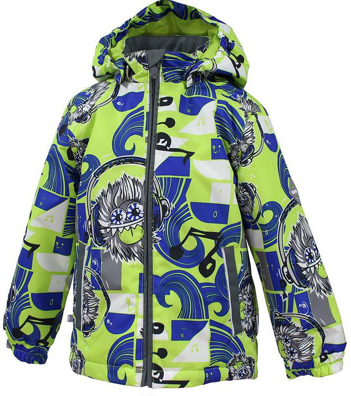 Куртка для мальчика Huppa Jody, цвет: лайм, синий, серый. 17000004-73147. Размер 11017000004-73147Куртка с подкладкой для мальчика Huppa c длинными рукавами, воротником-стойкой и съемным капюшоном, выполнена из высококачественного водонепроницаемого и ветрозащитного материала на основе полиэстера. Модель застегивается на застежку-молнию с защитой подбородка спереди. Изделие имеет два прорезных кармана на застежках-молниях. Манжеты рукавов собраны на внутренние резинки. Модель оформлена оригинальным контрастным принтом. На изделии имеются светоотражательные элементы для безопасности в темное время суток.