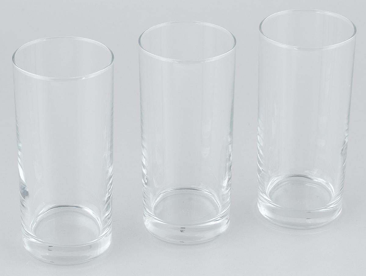 """Набор Pasabahce """"Istanbul"""" состоит из трех стаканов, выполненных из закаленного натрий-кальций-силикатного стекла. Высокие стаканы прекрасно подойдут для подачи сока, компота и других холодных напитков. Их оценят как любители классики, так и те, кто предпочитает современный дизайн.Набор идеально подойдет для сервировки стола и станет отличным подарком к любому празднику. Высота стакана: 14 см."""