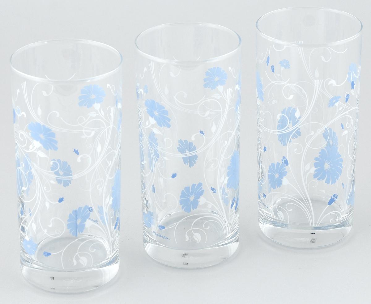 Набор стаканов Pasabahce Workshop Serenade, цвет: голубой, 287 мл, 3 шт салатник pasabahce red serenade цвет красный диаметр 23 см