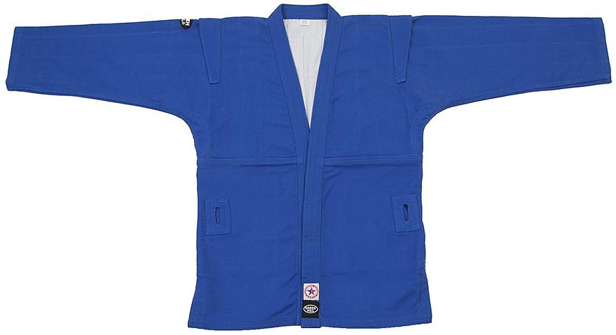 Куртка для самбо Green Hill, цвет: синий. SC-2001. Размер 1/140SC-2001Куртка для занятий самбо. Материал куртки 100% хлопок. Куртка изготовлена по всем требованиям федераций самбо РФ. При окраске применяется 100% природный краситель.