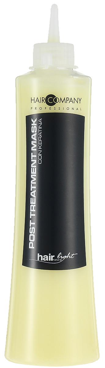 Hair Company Маска восстанавливающая для волос Hair Light Post Treatment Mask 500 млOTM.15Восстанавливающая маска Hair Company Hair Light Post Treatment Mask с кератиновыми протеинами, придает эластичность волосам, делая их мягкими и питая естественными аминокислотами, содержащимися в молекулярной структуре волос. Выравнивает уровень рН, сглаживает чешуйки, избегая преждевременного смывания пигмента после химической завивки, выпрямления и окрашивания, помогает волосам восстановить необходимый водный баланс. Способ применения: Нанести на вымытые шампунем Post Тгеаtmепt и подсушенные волосы. Оставить на 3-5 минут и смыть водой.